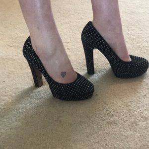 BCBGeneration Black And Silver Pumps size 8